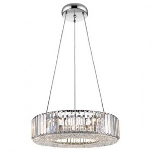 Ancha Decorative Round Luminaire Pendant In Chrome And Clear