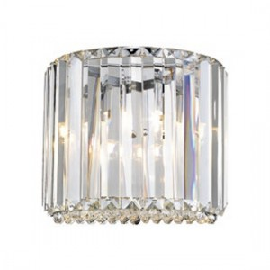 Ancha Luminaire Wall Light In Chrome And Clear