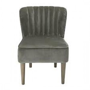 Bella Velvet Bedroom Chair In Steel Grey