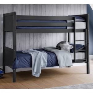 Bella Wooden Bunk Bed In Anthracite