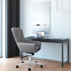 Benjamin Executive Fabric Seat Office Chair In Grey
