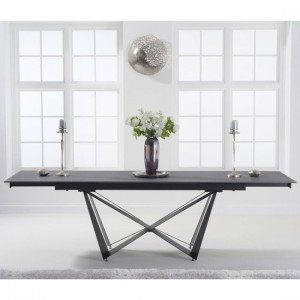 Benjamin Extending Marble Dining Table In Grey