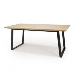 Berlin Large Ash Industrial Dining Table