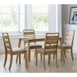 Boden Wooden Dining Table With 4 Lars Chairs In Waxed Oak
