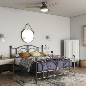 Bombay Metal Double Bed In Bronze