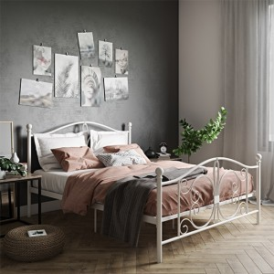 Bombay Metal King Size Bed In White