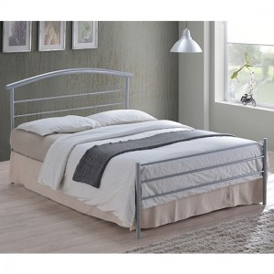 Brennington Metal Double Bed In Silver
