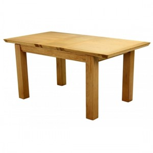 Breton Medium Extending Wooden Dining Table In Natural