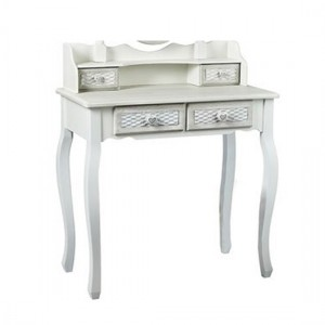 Brittany Wooden Dressing Table In White And Grey