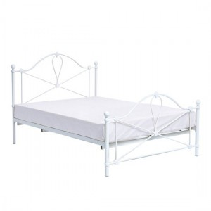 Bronte Metal King Size Bed In White