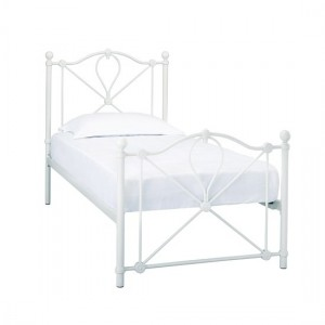 Bronte Metal Single Bed In White