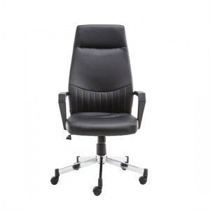 Brooklyn Designer Faux Leather High Back Office Chair In Black