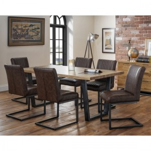 Brooklyn Wooden Dining Table In Oak With 6 Chairs
