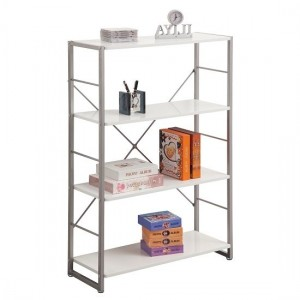 Cabrini Modern Wooden Bookcase In White