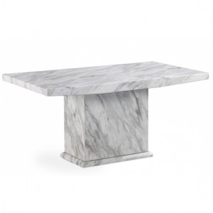 Caceres 220cm Marble Rectangular Dining Table In Grey