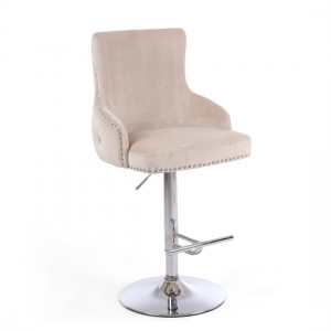 Cairo Brushed Velvet Bar Stool In Mink