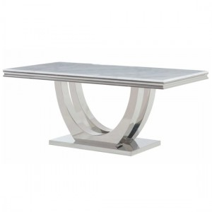 Calacatta Recrtangular Marble Dining Table In White