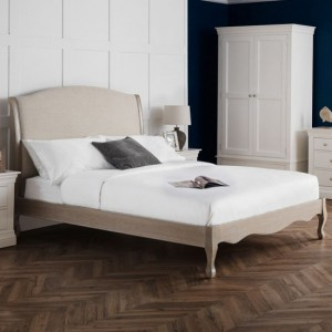 Camille Wooden Double Bed In Limed Oak