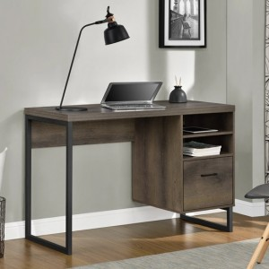 Candon Wooden Computer Desk In Brown