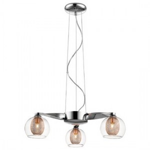 Bharani Decorative Pendant In Chrome And Copper