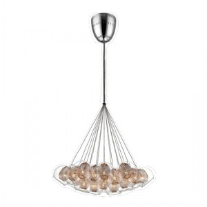 Bharani Large Decorative Pendant In Copper And Chrome