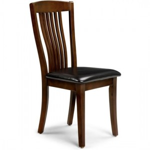 Canterbury Wooden Dining Chair In Mahogany