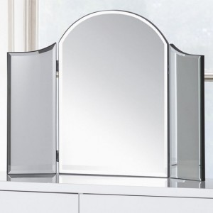 Canto Curved Dressing Mirror In Clear Glass