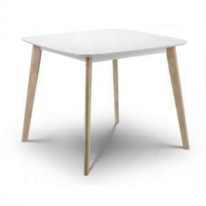 Casa Wooden Dining Table In White And Limed Oak