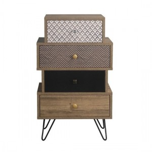 Casablanca Wooden Chest Of Drawers In Oak With 4 Drawers