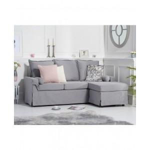 Aldonia Grey Linen 3 Seater Reversible Chaise Sofa
