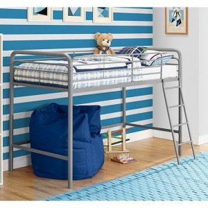 Chadre Midsleeper Single Bunk Bed In Silver And Grey