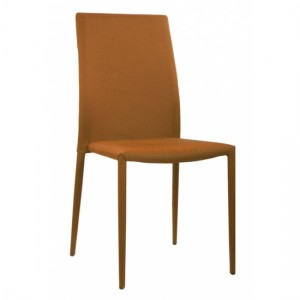 Chatham Set Of 4 Stackable Fabric Dining Chairs In Orange