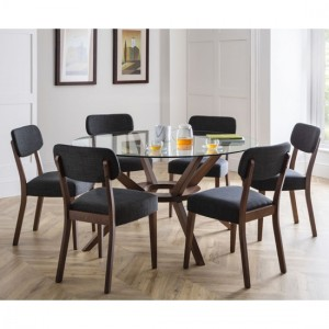 Chelsea Large Glass Dining Table With 6 Farringdon Chairs