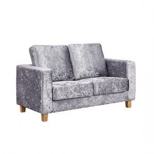 Chesterfield Crushed Velvet  2 Seater Sofa In Silver