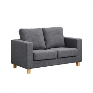Chesterfield Linen Fabric 2 Seater Sofa In Dark Grey