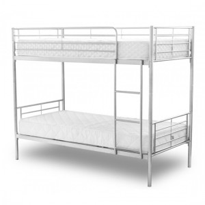 Chicago Metal Bunk Bed In Silver