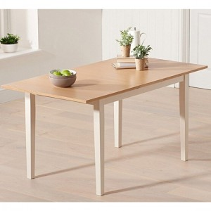 Chichester Extending Wooden Dining Table In Oak And Cream