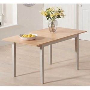 Chichester Extending Wooden Dining Table In Oak And Grey