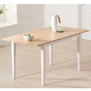 Chichester Extending Wooden Dining Table In Oak And White