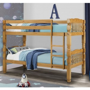 Chunky Wooden Bunk Bed In Pine