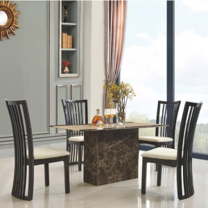 Cincinnatti Natural Stone Marble Dining Set With 4 Chairs