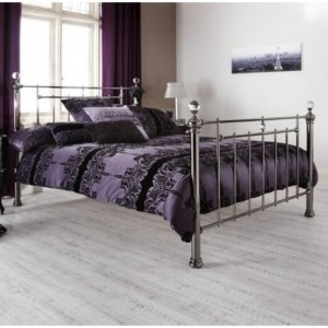 Clara Metal Small Double Bed Black Nickel