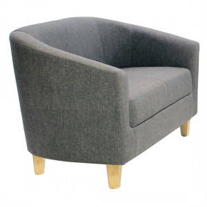 Claridon Linen Fabric 2 Seater Sofa In Dark Grey