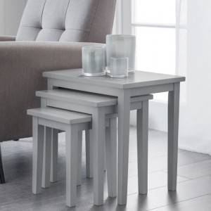 Cleo Wooden Nest Of Tables In Grey
