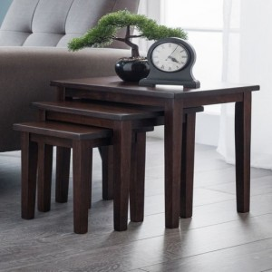 Cleo Wooden Nest Of Tables In Mahogany