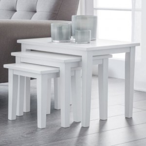 Cleo Wooden Nest Of Tables In White