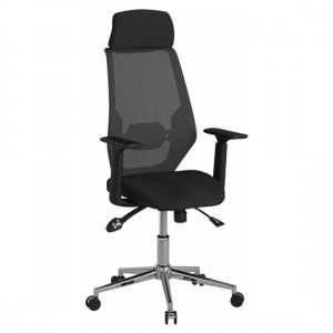 Clifton Mesh Back Fabric Seat Office Chair In Black
