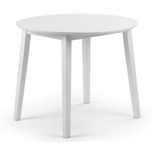 Coast Round Wooden Dining Table In White