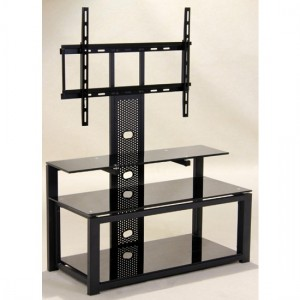 Columbus Flat Screen TV Stand In Black With Metal Frame