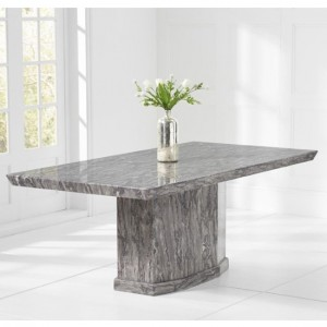 Como 160cm Marble Rectangular Dining Table In Grey